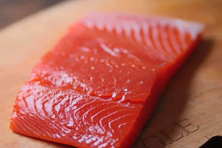 The internal temperature of Salmon when done