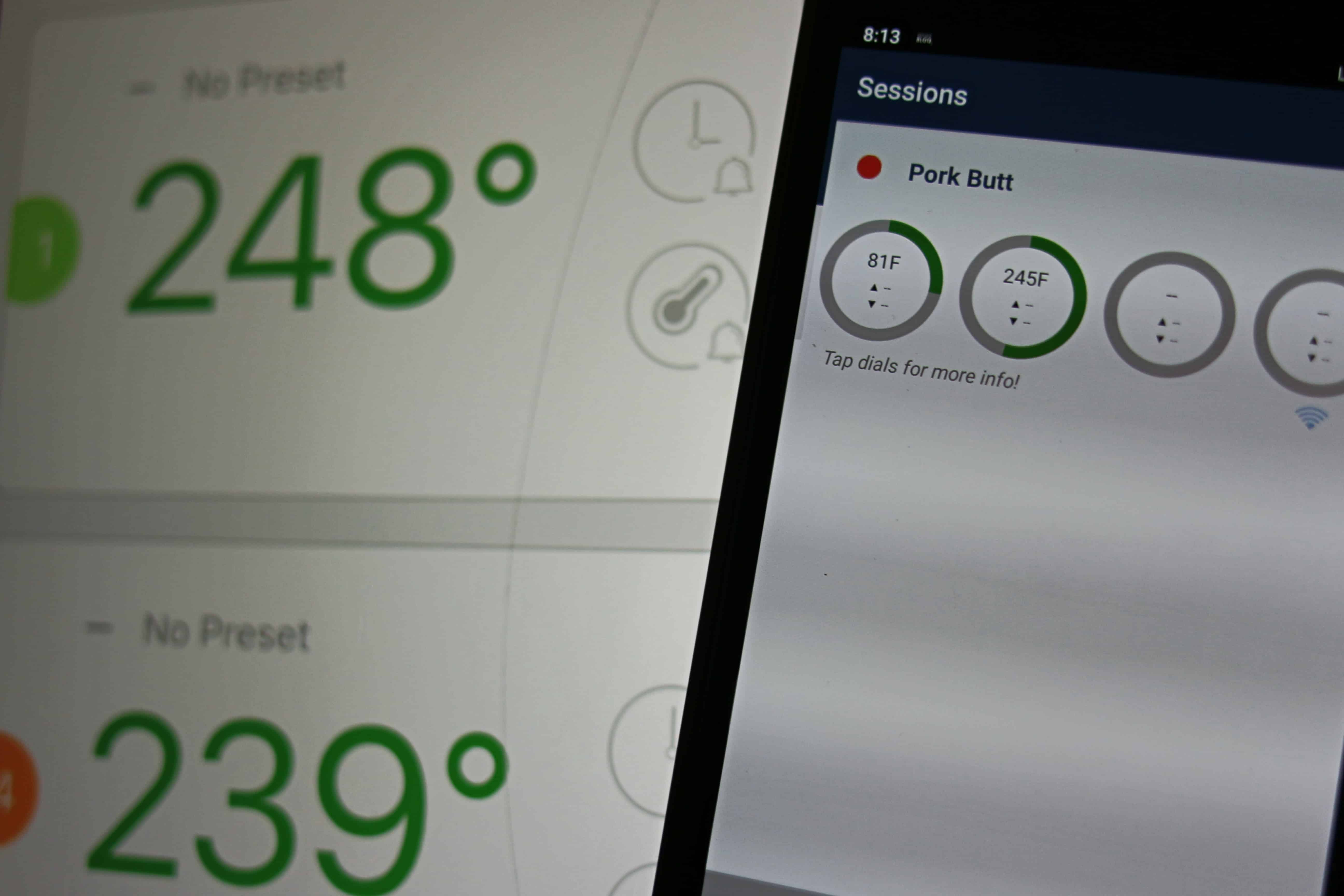 SmokeBloq Temperature reading versus other thermometers