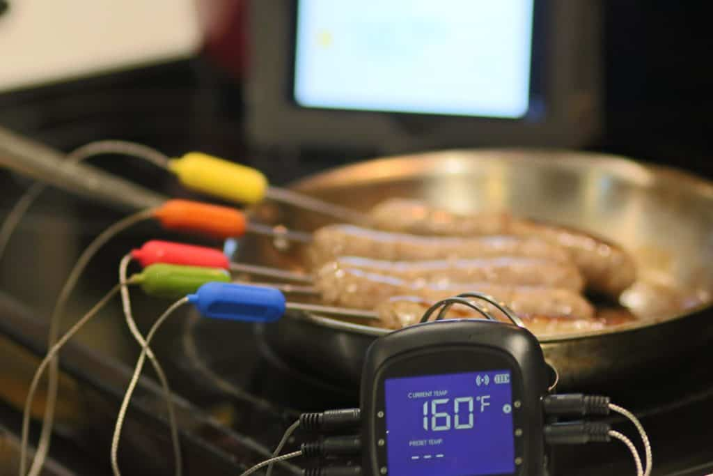 Bratwurst Done Temperature on Tenergy Solis Meat Thermometer
