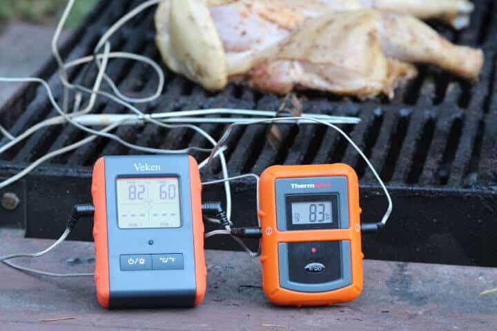 Testing both The ThermoPro TP 20 meat thermometer and the Veken 4-Probe Meat Thermometer on the grill