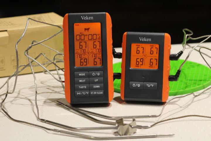 Veken Wireless 4-Probe Meat Thermometer