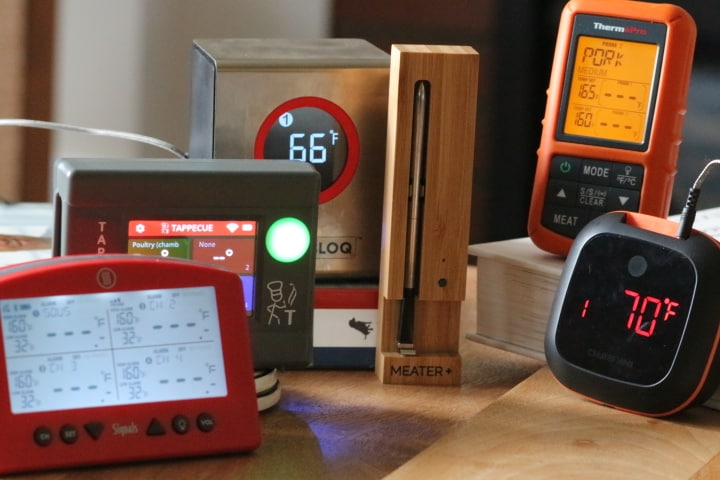A selection of Wifi and Bluetooth Meat Thermometers
