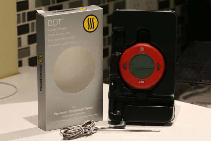 Thermoworks DOT Thermometer and the box it came in