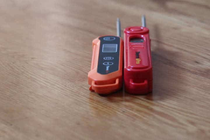 The ThermoPro TP03A and the TP03H thermometers side by side