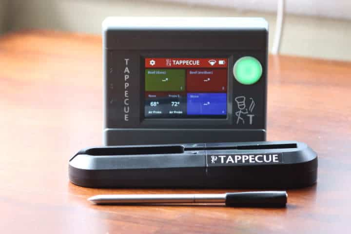 The Tappecue AirProbe connects to the Tappecue Touch WiFi meat thermometer.