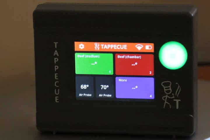 Tappecue Touch connected to WiFi
