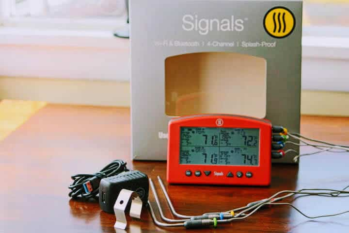The Thermoworks Signals WiFi thermometer right out of the box.