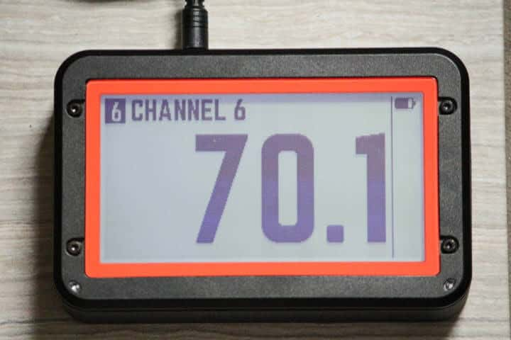 Fireboard 2 Drive showing 70.1 degrees Fahrenheit
