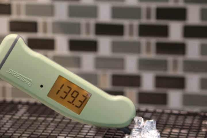 Thermapen MK4 with display upside down.