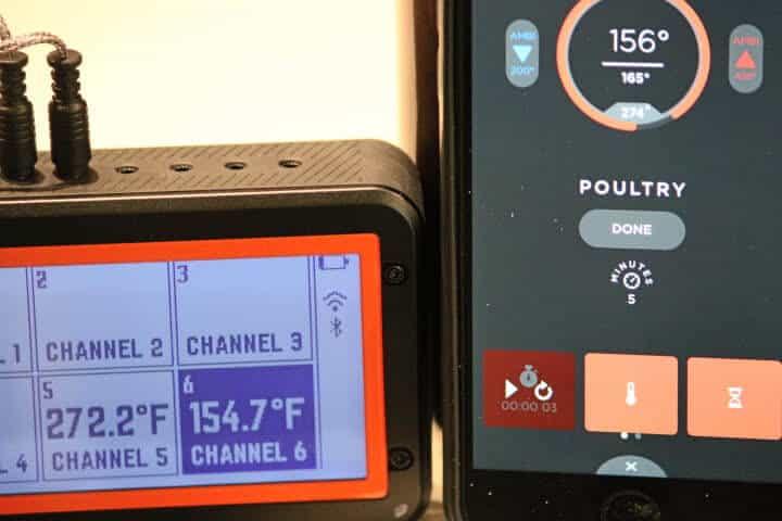 Lavatools Carbon Lite app displaying 156 degrees Fahrenheit