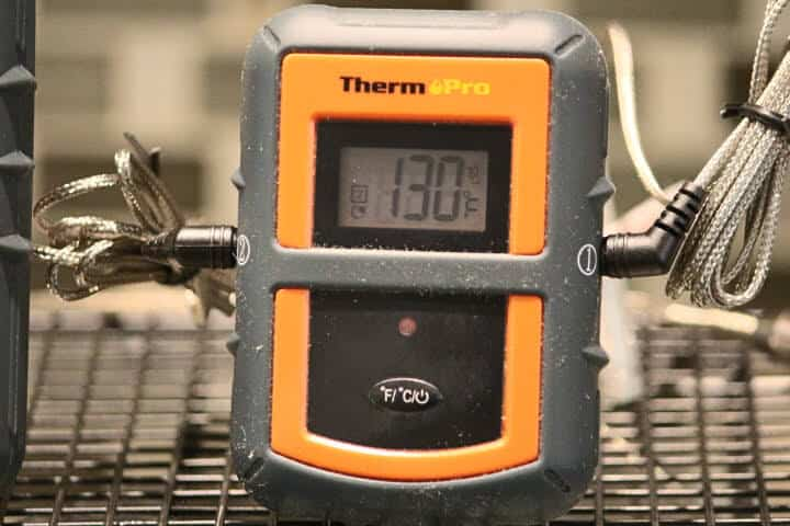 The transmitter unit of the ThermoPro TP08S Remote meat thermometer