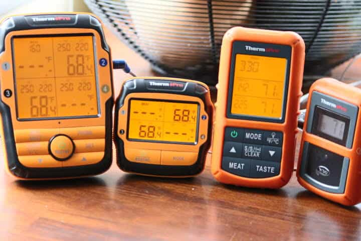 The ThermoPro TP-27B on the left and the ThermoPro TP20 on the right