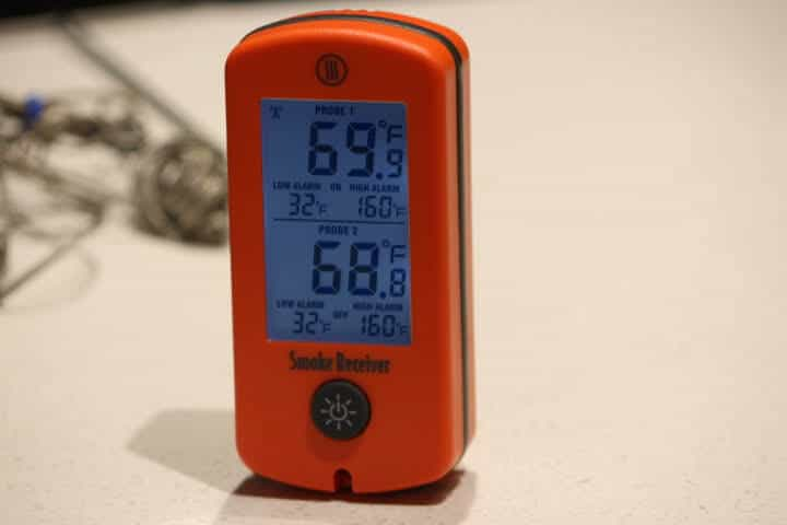 The receiver of the Thermoworks Smoke meat thermometer
