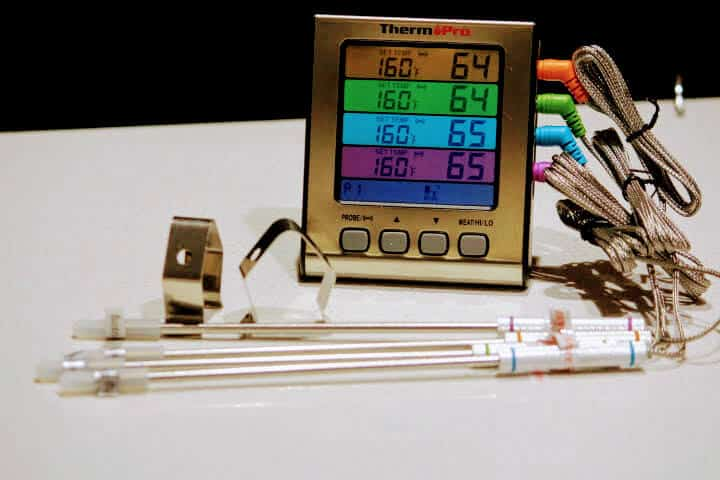 ThermoPro TP17H Digital Food Thermometer with 4 Temperature Probes