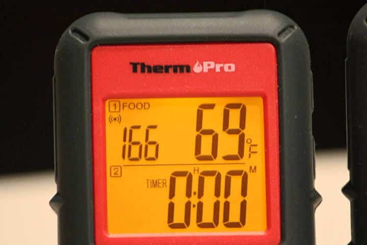 The ThermoPro TP08B in timer mode