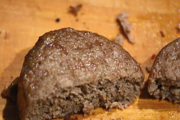 Oven-cooked turkey sausage with a visibly moist exterior