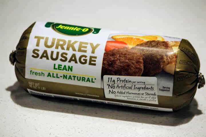 Raw Turkey Sausage in a tube