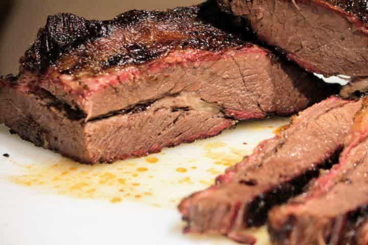 Beef Brisket point cut in half