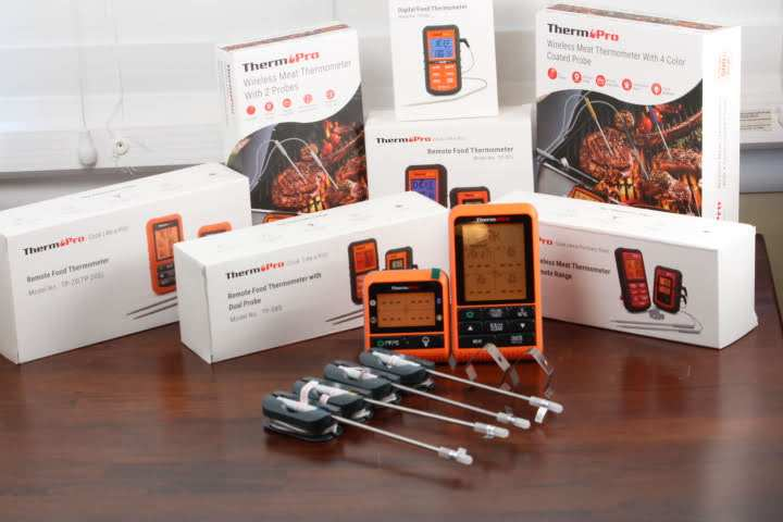The ThermoPro TP829 Remote Meat Thermometer with all of the other remote meat thermometers in ThermoPro's lineup.