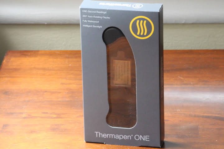 Thermapen ONE black food thermometer in its package