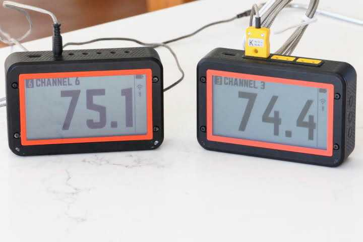 The FireBoard 2 Drive Thermometer on the left and the FireBoard 2 Pro Thermometer on the right